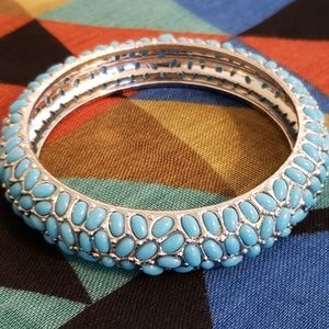 💕IMAN Turquoise Pebble Bangle